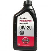 Оригинальное моторное масло Nissan Genuine Motor Oil 0W-20 (999PK000W20N)