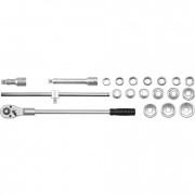 Набор торцевых головок и комплектующих (в металлическом кейсе) Yato YT-1335 (20шт)