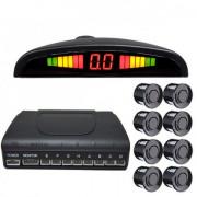 Парктроник iDial D-069 для заднего и переднего бампера с LED-дисплеем
