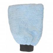 Микрофибровая варежка для сухой и влажной уборки внутри автомобиля DeWitte Microfiber Washing Glove 'Bluenet' (24х18см)