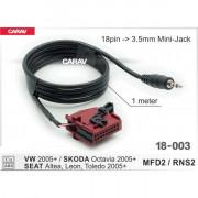 Кабель адаптер AUX Carav 18-003 для подключения аудио-устройств к штатной магнитоле Volkswagen, Skoda, Seat