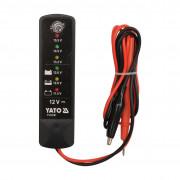 Цифровой аккумуляторный тестер Yato YT-83101