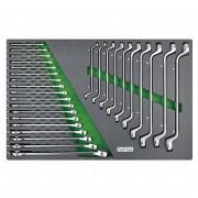 Набор комбинированных и накидных ключей 6-27мм (в ложементе) Toptul GED2813 (28шт)