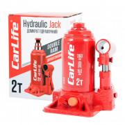 Гидравлический бутылочный домкрат (двухштоковый) CarLife BJ402D (2 т)