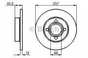 Диск тормозной AUDI 100 передний Bosch 0 986 478 016
