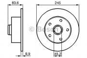 Диск гальмівний AUDI A4 задній Bosch 0 986 478 759