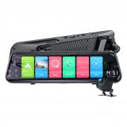 Зеркало заднего вида Phisung Z55 с видеорегистратором, монитором, дополнительной камерой, системой ADAS, Wi-Fi, 4G / 3G, Bluetooth, GPS (Android 8.1)