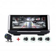 Автомобильный видеорегистратор на торпедо Phisung W09 с монитором, дополнительной камерой, режимом `ночная съемка` и парктроником
