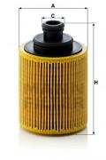 Масляный фильтр MANN HU712/7X