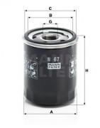 Оливний фільтр MANN W67