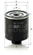 Масляный фильтр MANN W712/52