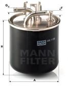 Паливний фільтр MANN WK1136