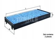 Фильтр салона угольный MAHLE LAO221/S
