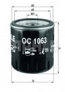 Масляный фильтр MAHLE OC1063
