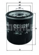 Масляный фильтр MAHLE OC1291