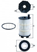 Масляный фильтр MAHLE OX350/4D