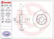Тормозной диск BREMBO 08.4177.10