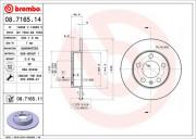 Тормозной диск BREMBO 08.7165.11