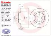 Гальмівний диск BREMBO 08.9511.10