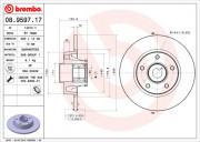 Гальмівний диск BREMBO 08.9597.17