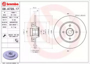 Тормозной диск BREMBO 08.A729.17