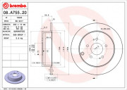 Тормозной диск BREMBO 08.A755.20