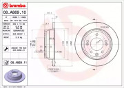 Тормозной диск BREMBO 08.A869.10