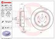 Гальмівний диск BREMBO 08.A871.10