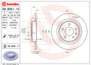 Тормозной диск BREMBO 08.B351.11