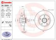 Гальмівний диск BREMBO 08.B369.17