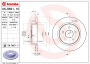 Тормозной диск BREMBO 08.B601.10