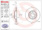 Гальмівний диск BREMBO 09.9078.11