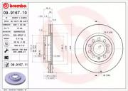 Гальмівний диск BREMBO 09.9167.11
