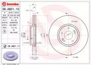 Тормозной диск BREMBO 09.A601.10