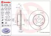 Гальмівний диск BREMBO 09.A736.11