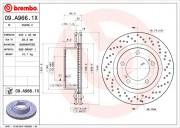 Тормозной диск BREMBO 09.A966.1X