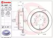 Тормозной диск BREMBO 09.A967.11