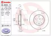 Гальмівний диск BREMBO 09.B355.10