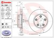 Гальмівний диск BREMBO 09.C881.11