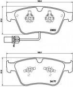 Тормозные колодки BREMBO P05003