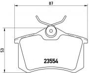 Тормозные колодки BREMBO P85020