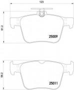 Тормозные колодки BREMBO P85124