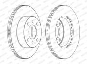 Тормозной диск FERODO DDF1005C