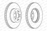 Тормозной диск FERODO DDF1061C-1