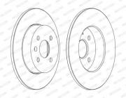 Тормозной диск FERODO DDF1313C