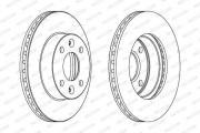 Тормозной диск FERODO DDF1521