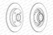 Тормозной диск FERODO DDF1560-1