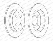 Тормозной диск FERODO DDF1622C