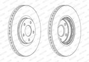 Гальмівний диск FERODO DDF1724C