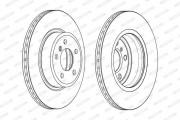 Тормозной диск FERODO DDF2039C